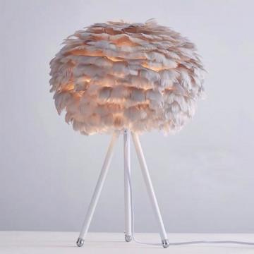 Masa lampası ağ-boz