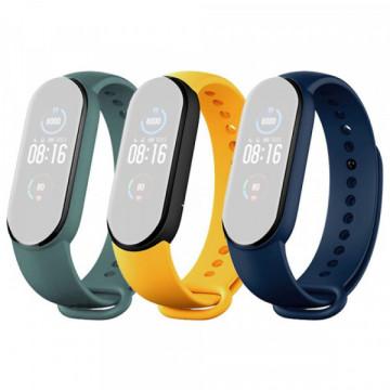 Mi Smart Band 5 Strap (3-Pack) Navy Blue/Yellow/Mint Green