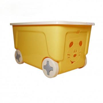 COOL Təkərli  sarı oyuncaq qutusu