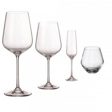 BOHEMİA GLOBO GLASS Seti 16 ədətli