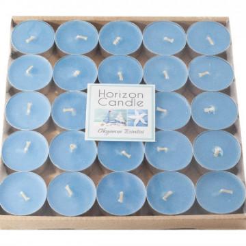 Çay şamı 25li mavi