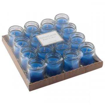 Şüşə bankada şam mavi 4.5x6 sm