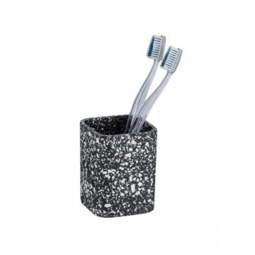 Terrazzo Black diş fırçası qabı