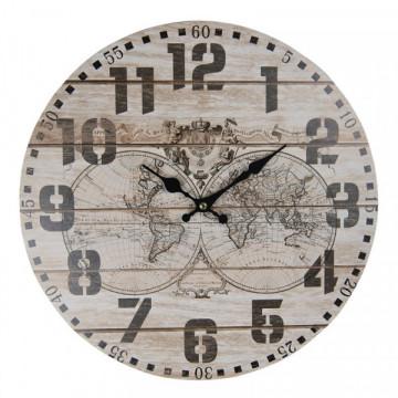 Divar saatı xəritəli