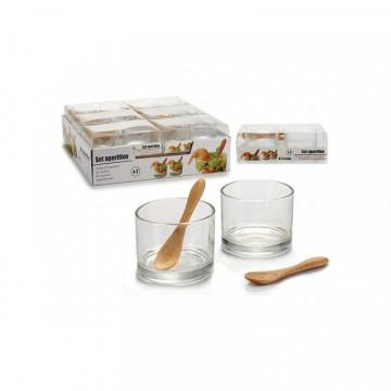 Bambuk qaşıqlı fincan dəsti