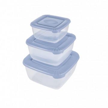 Mavi üçlü saxlana qabları dəsti (0.95 lt, 1.5 lt, 2.5 lt)